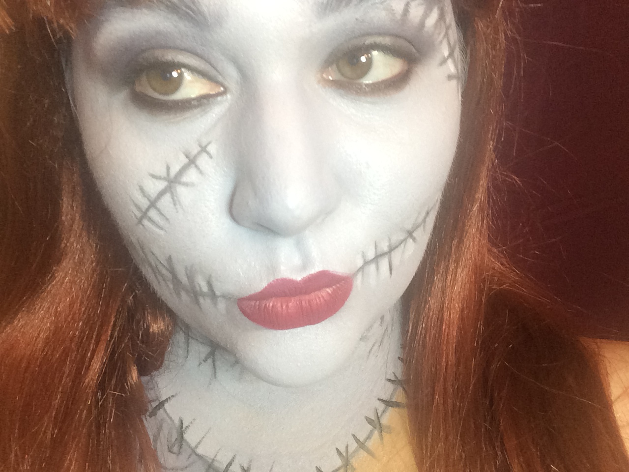 Sally Tim Burton Makeup